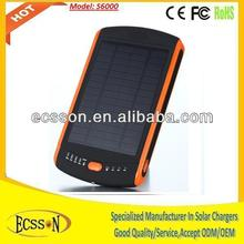 Dual USB+1.25W Solar Panel 6000mAh portable solar charger for cell phone