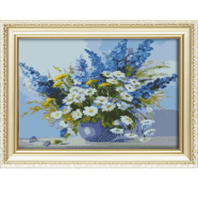 2015 modern art paintings with flower design painting wall pictures for living room