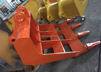 Japan design excavator hitachi ZX200/ EX200 rake bucket with bucket teeth and tooth plate