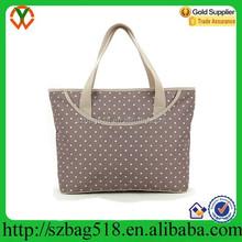 Polka dot tote beach bag large capacity eco-friendly fashion tote bag