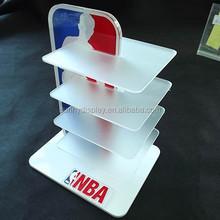 NBA sport wear Countertop acrylic display shelf