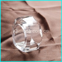 Hot selling clear crystal napkin ring with full stock