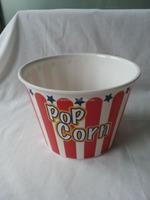 "9"" Round Plastic Melamine Popcorn Bucket/Popcorn Bowl"