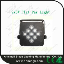 Protable ! (RGB 3-IN-1)mini 9x3w Led Flat Par Light