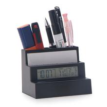 PN-1027 Pen Holder Digital Clock, Weather Forecast Clock, Student Stationery Clock