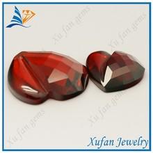 New product heart shape fancy cut cz stone