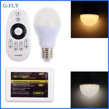 qualified 2.4G rf remote&wifi control plastic housing 6w ww/cw intelligent led bulb with CE&RoHS