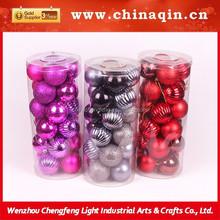 Popular caliente de la navidad de interior cristal colgando, navidad bola del árbol de navidad decoración