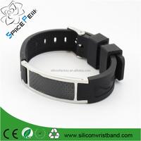 Factory for silikon energy bracelet,negative ion energy with Fiber power bracelet Magnetic Bio Health 4in1