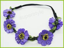 Elegant daisy flower crown headband