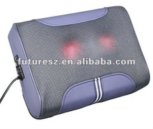 handheld shiatsu massager with red and green light
