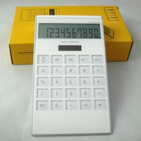 Big acrylic key desktop calculator with solar power function