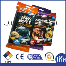 Eco-friendly car wet wipes China manufacturer for all purpose cleaning 24pc 40pc 80pc