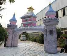 Attractive!!!8m(W)*6m(H) inflatable castle arch for holiday event W1024