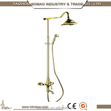 2015 Hot Sale Thermostatic Gold Rose Gold Archaise Brass Wall Mounted Rainfall Shower Set Bathroom Mixer/Faucet /Tap