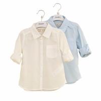 WS808 Unisex Blouses and Tops Long Sleeve School Uniform Shirts Wholesale School Uniform Patterns School Uniform Design