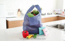 portable large capacity bearing strong foldable reusable supermarket shopping bag