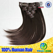 Wholesale Price Full Cuticle Virgin Remy Brazilian 36 Inch Hair Extensions Clip In