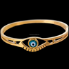 14k gold cz evil eye bracelet ,stainless steel green eye bracelet