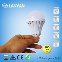 AC85-265v DC12v 24v Light Battery Operated Led Rechargeable Emergency Lamp 9W