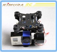 Universal Tripod Head Assembled and debugged 2-axis Gopro2/3 Gimbal Kit Motors Controller Ready to Fly