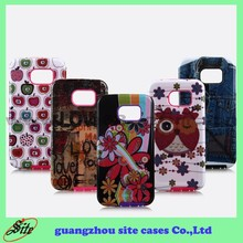 Manufacturer Wholesale OEM Cute Design TPU + PC 2 in 1 combo Mobile Phone Cases for Samsung S6 case