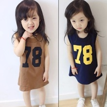 Summer children's clothing girls Casual word sleeveless T-shirt child models T-Shirts