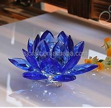 blue feng shui crystal lotus flowers SJ-LH278