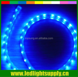High quality SMD5050 double row battery powered continuous length trimmable flexible led light strip 120led/m blue color