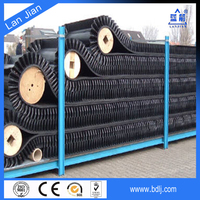 Lanjian Wholesale ISO Standard curve 90 degree side wall conveyor belts for bulk materials