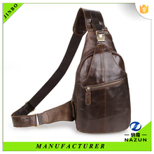 Cold winter travel man's smooth bright chest bag backpack