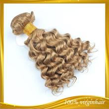 Top Selling Excellent quality virgin remy human hair blonde deep wave hair weft