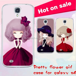 Cute flower girl case for samsung galaxy s4, on sale case for galaxy s4