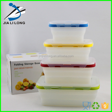 Silicone collapsible clear food storage container