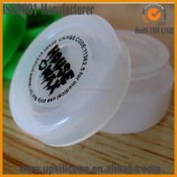logo printing clear silicone oil container silicone bho jar dab container silicone wax container