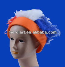 New football fans crazy synthetic hair wig for club or beer company promotion events