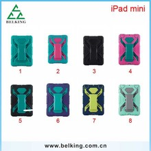 Tablet Plastic PC Cases For iPad Mini Shockproof Stand Hybrid Plastic Case For iPad Mini