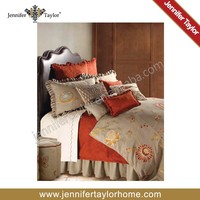 8825-680 Home textile american classic modern Soft Taupe Embroidered bedding set