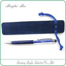 Customized Logo Wholesale colorful Eco-Friendly Velvet pouch / velvet pen pouch / velvet bag for pen