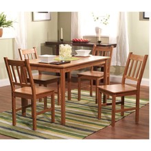 Simple Living solid wood 5-piece Dining Set dining table and chairs