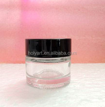 hot sale cosmetic jar glass