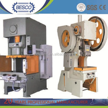 JF21series 60 Tons C-frame deep-throat punch card machine price (60 tons 80ton 125ton 200ton 300ton)