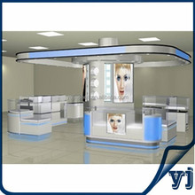 Used cosmetic display showcase,MDF display shelf/wooden cabinent