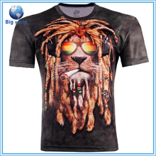 2015 NEW 100% Cotton sublimation T shirts Men Shorts Sleeve Brand Design custom tshirt manufacturers