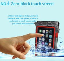 Outdoor sports kit waterproof underwater phone case for iphone6