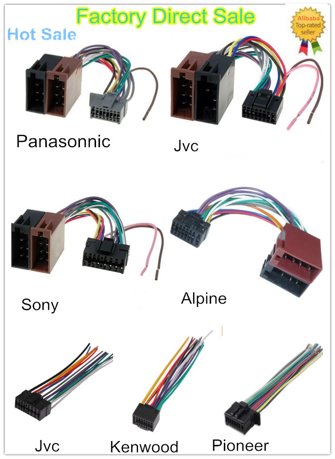 New Style Car Audio Wiring Harness With Iso Male Plug Connector ...