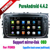 2 din touch screen 3g wifi bluetooth mirror-link hotspot android 4.4.2 mp3 gps radio for ford Transit Connect dvd player 2010