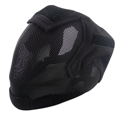 Tactical Airsoft Paintball Head Mask, Full Head Protection Steel Net Mask