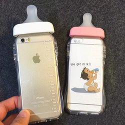 Arrival Simulation Baby Milk Bottle Clear Transparent Silicon TPU Case For iPhone 6 4.7inch 6 plus Phone cases