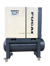 10HP 8/10/13 bar 300 L air tank two in one integrated sand blasting screw compressor